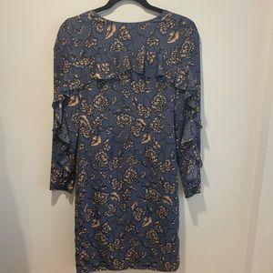 Dresses & Skirts - Blue & Cream Dress